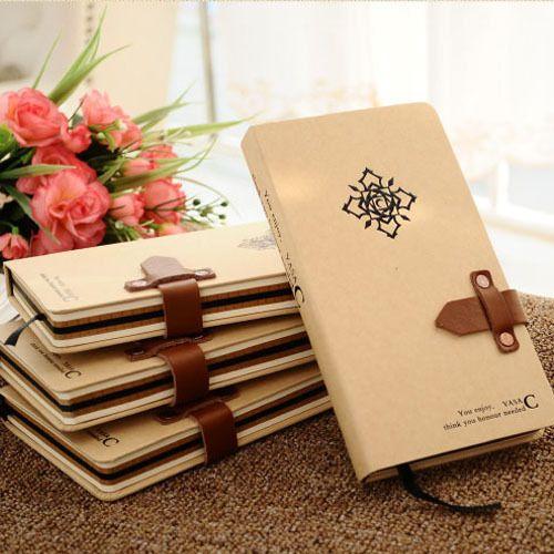 Записная книжка для подарка, 120 листов, крафт бумага, для офиса и школы, ретро стиль,