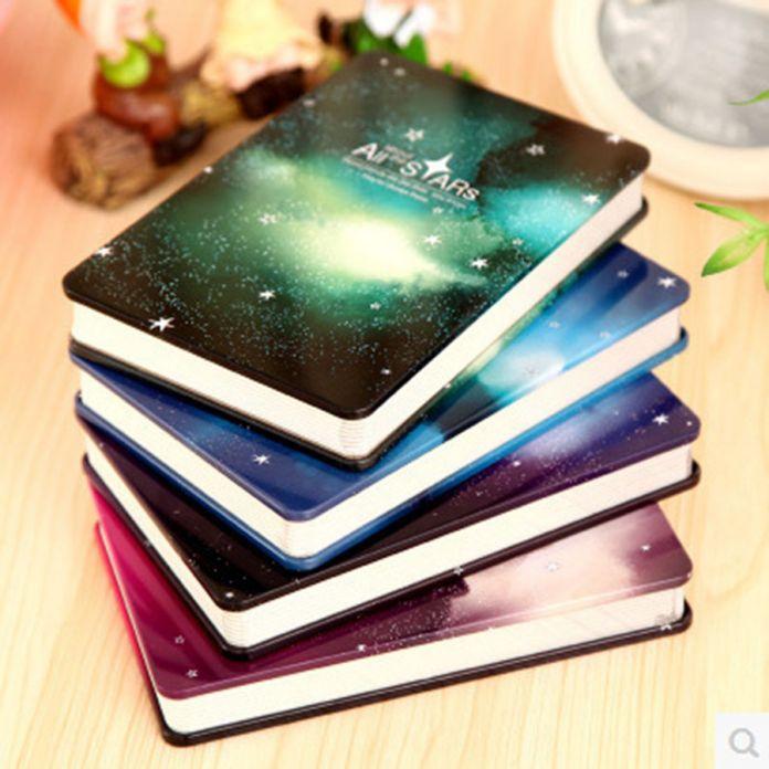 Новый Металл дневник Тетради 144 листов Все Звезды Творческий Блокнот жесткий тетрадь блокнот Офис Школьные Принадлежности Подарок