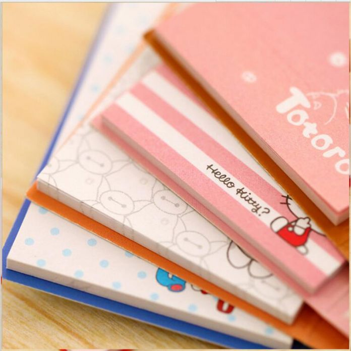 Милый большой герой складной наклейки каваи привет котенок memopad тоторо дневник записная книжка бумаги корейский офис школьные принадлежности эсколар