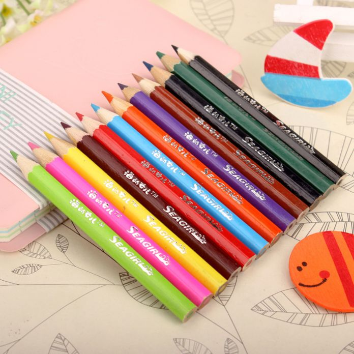 Бесплатная доставка 12 шт./лот Ветер чистый цвет 12 цвет карандашный рисунок живопись коробку конфет цвета свинца