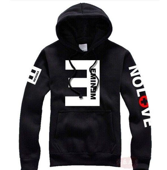 2016 Зимний мужской Флис Толстовки Eminem Отпечатано Сгущает Пуловер Толстовка Мужчины Спортивная Мода Одежда