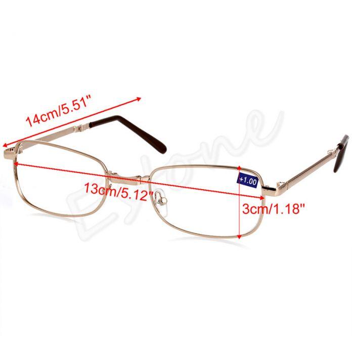 Складные металлические очки для чтения (+ 1.0 1.5 2.0 2.5 3.0 3.5 4.0)