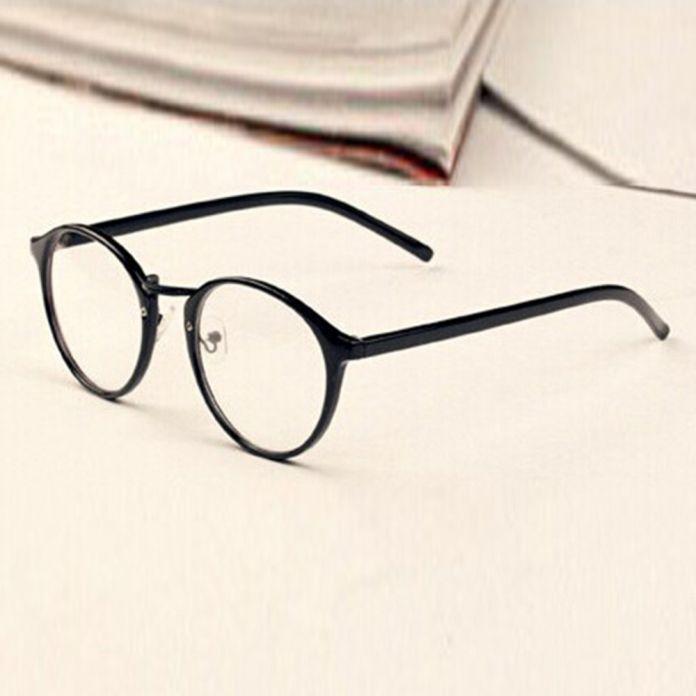 Мужчины Женщины Nerd Очки Прозрачные Линзы Очки Унисекс Ретро Очки Очки