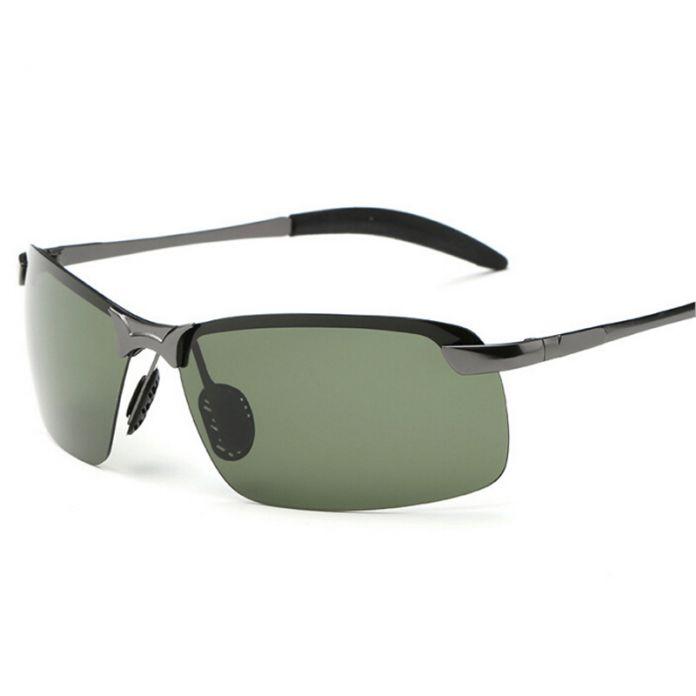 Прятки 2016 поляризационные солнцезащитные очки для мужчин поляризованный спорт металла без оправы мужчины вождения солнцезащитные очки ночной видение желтый черный дешевые
