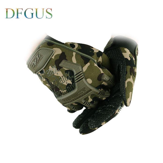 Мужская Полный Finger Mechanix Перчатки Армии США Тактические Перчатки С Антискользящим покрытием Спорт На Открытом Воздухе Обучение Порезостойкие Обучение рукавицы