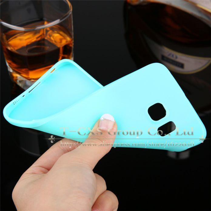 6 цветов! Продажи конфет мягкие TPU кремния телефон чехол для Samsung Galaxy S6 S6 край обложка чехол коке с логотипом окна новое поступление