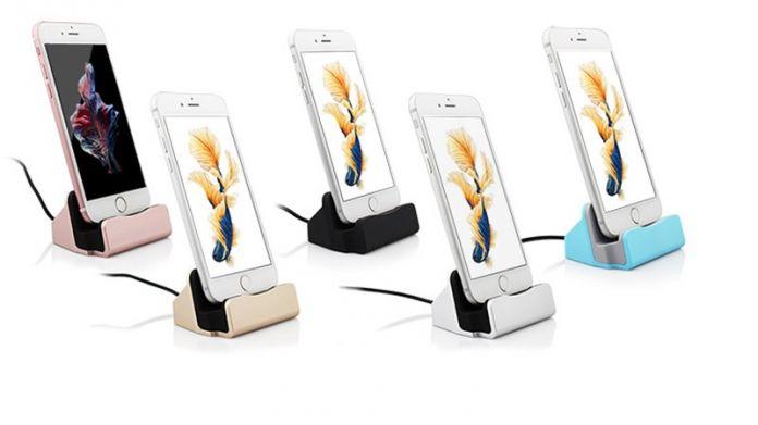 Новейшая док-станция для iPhone 6 6S 6Plus 5S 5 5C 4 цвета на выбор, в комплекте 1 юсб кабель