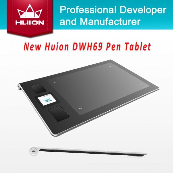 Новый Huion DWH69 подлинная беспроводной графический планшет рисунок таблетки профессиональный подпись планшеты Kids живопись Pen планшет черный