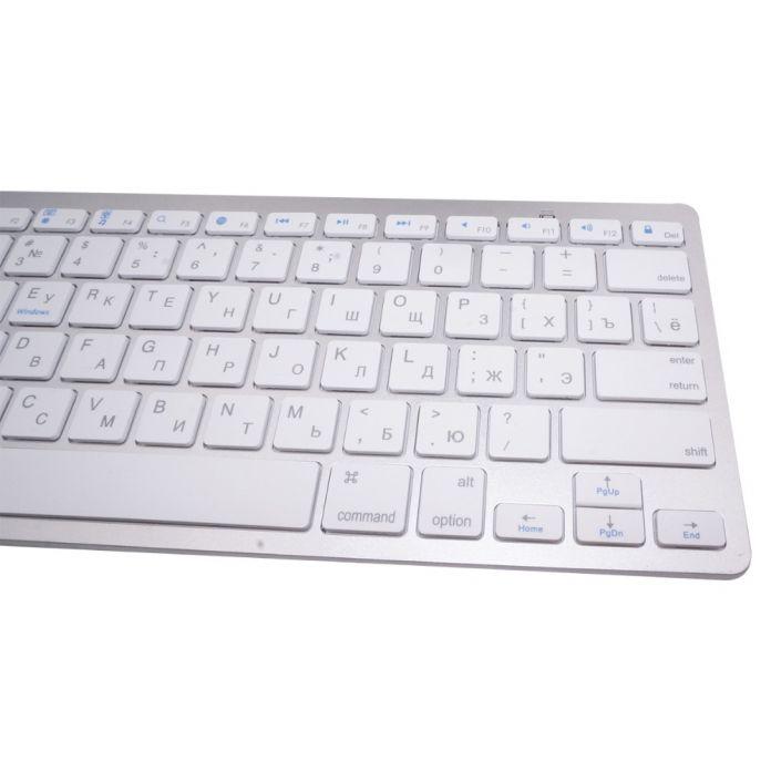 Русский Bluetooth для Беспроводной Клавиатуры для iPad PC Ноутбуки Ноутбук Белый
