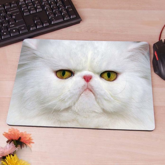 Белая кошечка обои анти-слип коврик для мыши мода тонкий колодки мыши коврик