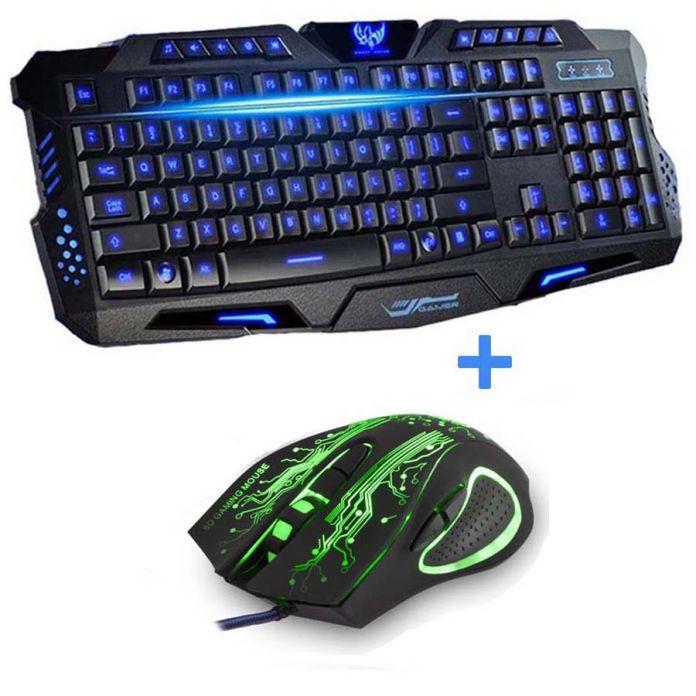 Новые красные / фиолетовый / синий из светодиодов подсветки USB проводной портативных пк про игровую клавиатуру и мышь для лол Dota 2 геймер клавиатуру и мышь