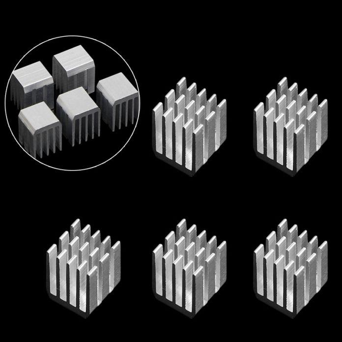 5 Шт. 9x9x12 ММ Алюминий Охлаждение RAM Радиатор радиатор Кулера Радиатор Чипсета