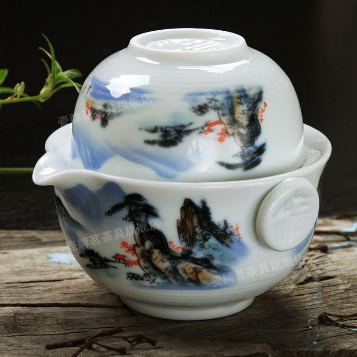 [ГРАНДИОЗНОСТЬ] Чайный набор Включает 1 Баночка 1 Чашки, высокое качество элегантный gaiwan, Красивый и легкий чайник чайник чайник фарфоровый чайник