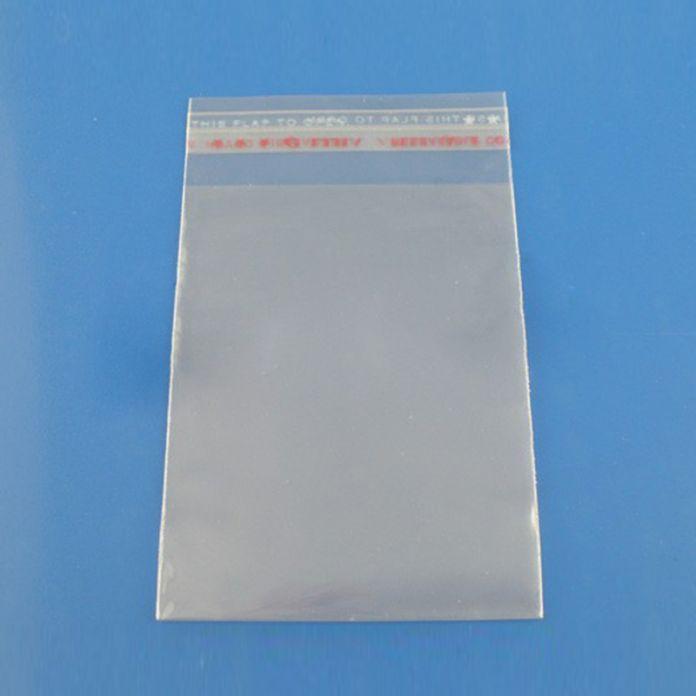 Новые 6 х 11 см 200 Шт. Прозрачные Пластиковые Пакеты Самоклеющиеся Печать Ювелирные Изделия Подарочная Упаковка Мешок