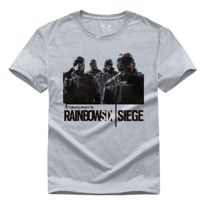 Rainbow Six Осады футболки Tom Clancy Печати Оригинальный Дизайн Моды Стиль Случайные мужские футболки мода 2016 Хлопок Футболки
