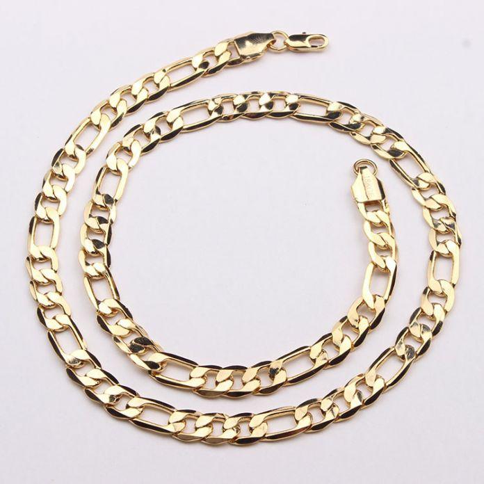 Хип-хоп позолоченные цепочки для мужчин ожерелье позолоченные ювелирные изделия оптовая дешевые человек свадебный подарок горячие 22 дюймов цепи ожерелье