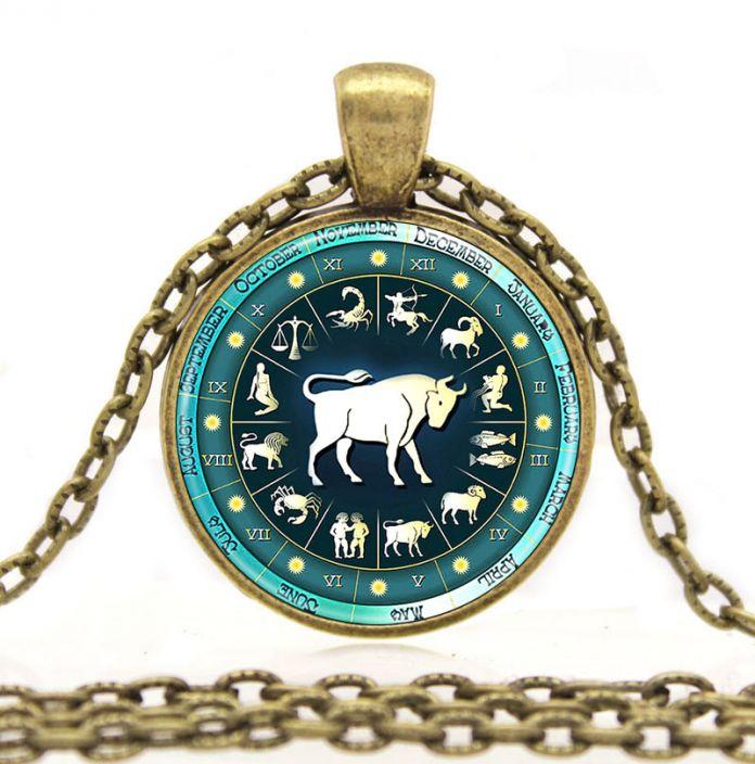 Знаки Зодиака Ожерелье Кулон-Астрология Знак Зодиака Очки Ожерелье Женщины Девушки СОЗВЕЗДИЕ Подарок Для Детей