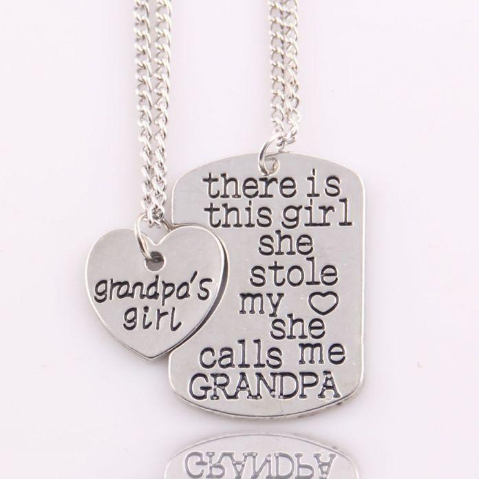 Лучший подарок сердце любовь есть девушка she украл мое сердце She позвоните мне бабушка мама дедушка папа нана Ожерелье Кулон женщин набор