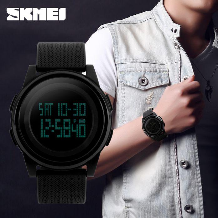 Новый SKMEI Спортивные Часы Мужчины Женщины СВЕТОДИОДНЫЕ Электронные Цифровые Часы Водонепроницаемые Спортивные Часы Мода Студент Наручные Часы