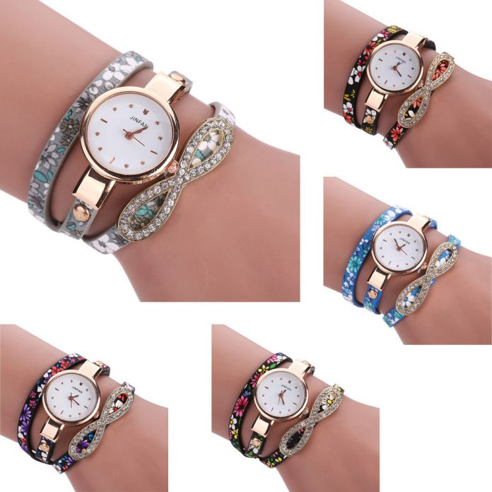 2016 Браслет Роскоши Часы montre femme Кожаный Дамы Платье Часы Повседневная Кварцевые Часы Женщины Rhinestone Мода Наручные Часы