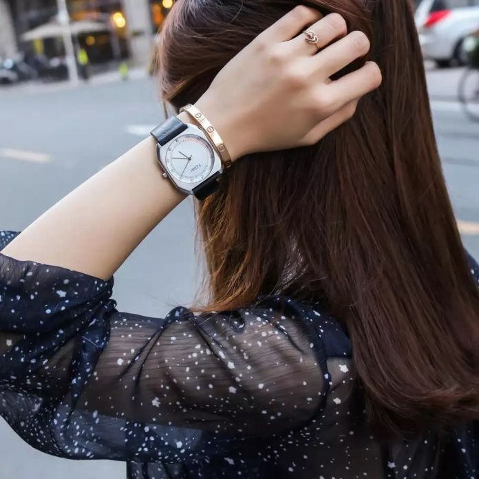 ТОМИ Марка Новая Мода роскошные Элегантные женщины Часы Простой Ультра Тонкий циферблат Casual Male Кварцевые Часы Человек Часы Наручные Часы Подарок
