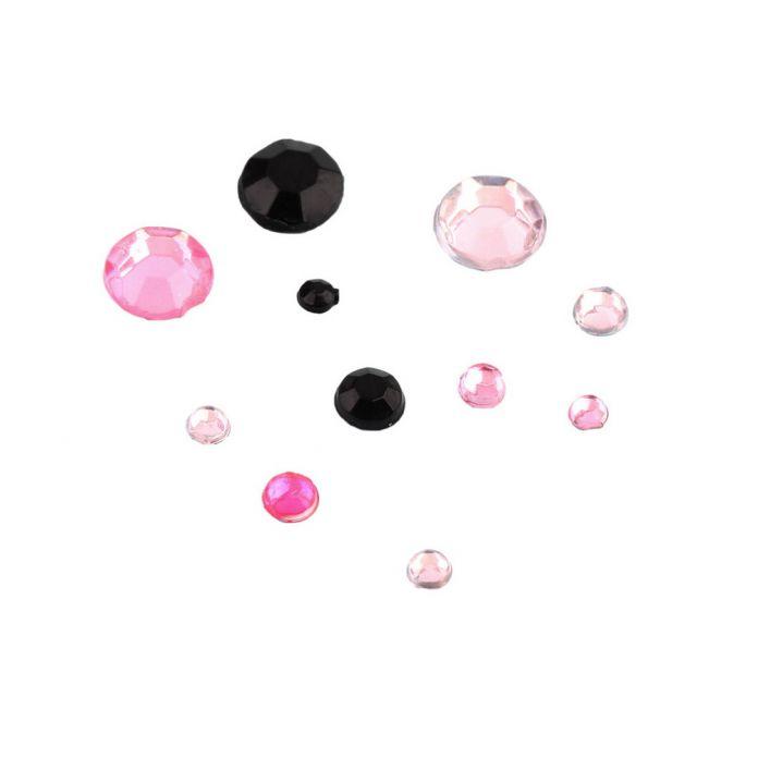 3D ногтей украшения Акриловый Маникюр Украшения 4 Размеры Черный белый Розовый Круглый Колеса Diy Блеск Стразы Для Ногтей очарование инструменты