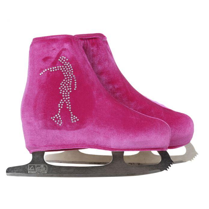 24 Цвета Ребенок Взрослый Бархат Катание На Коньках Фигурное Катание Обувь Покрыть Роликовых Коньках Ткань Аксессуары Белый Skater 3 Горный Хрусталь