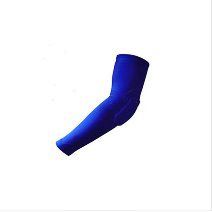 2017 Новый мужская Рука Локоть Защита Спорт На Открытом Воздухе Уход Наручи Солнцезащитный Крем Оружия Поддержки Баскетбол Рукава Колодки