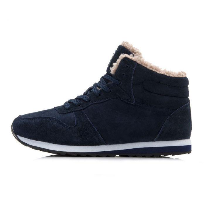 Женская Обувь Теплые Зимние Ботинки Женщин Ботинки Зашнуровать Женщин Кроссовки Черный Синий