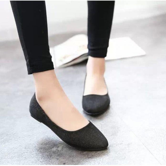 Модный дизайн элегантных женщин конфеты цвет блеск балета балерина острым носом квартиры свободного покроя на мокасины обувь размер 37 - 40