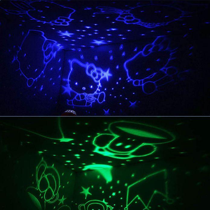 2016 Романтический Вращения Ночник Проектор Дети Дети Ребенка Спать Освещения Sky Star Master Лампа USB Led Проекция