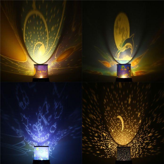 Мульти-стиль Океан/Созвездия/Звездное Небо/Вселенная Лампа Проектора Космос Мастер Night Light Кровать дети Подарок