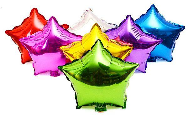 5 шт./лот 10 дюймов Гелием Воздушный Шар звезда Свадьба Большая алюминиевая Фольга Воздушные Шары Надувные подарок На День Рождения воздушный шар Партии Украшение Шар