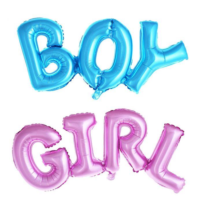 Мальчик в девочке связи Письмо фольгированные шары дети партия украшения день рождения воздушные шары партии надувные Гелием Воздушный Шар baby shower