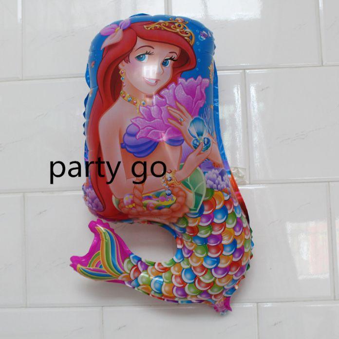 1 шт./лот 70*41 см Ариэль принцесса воздушный шар фольги гелия персонажа из мультфильма воздушные шары свадьбу день рождения русалочка воздушные шары