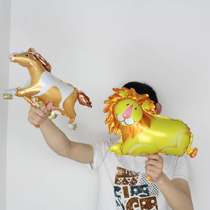 ГОРЯЧИЙ продавать 1 шт животных Воздушные Шары малый sieze Животных Зебра Олень Лев Обезьяна Корова Фольгированные Шары воздушный баллон День Рождения Украшения