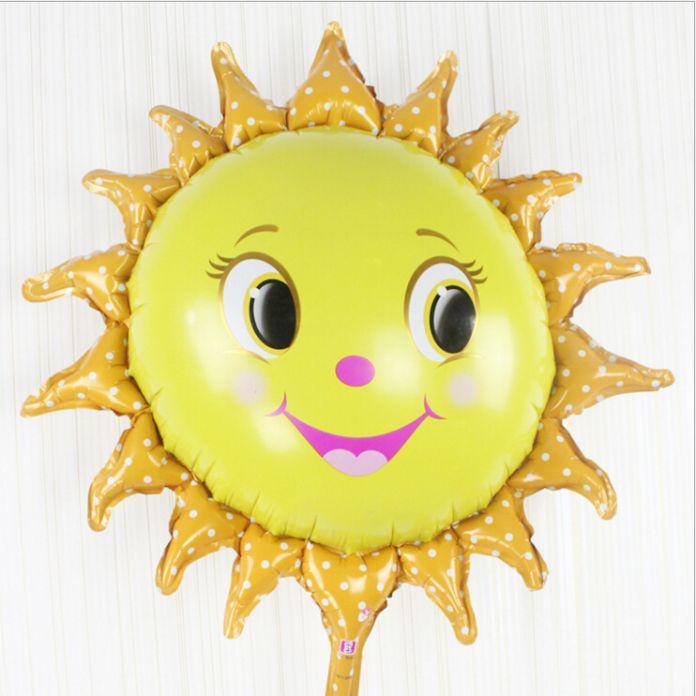 Новый солнце улыбающееся лицо гелиевых шаров романтический воздушных шаров надувной майларовую воздушный шар ну вечеринку украшения поставки