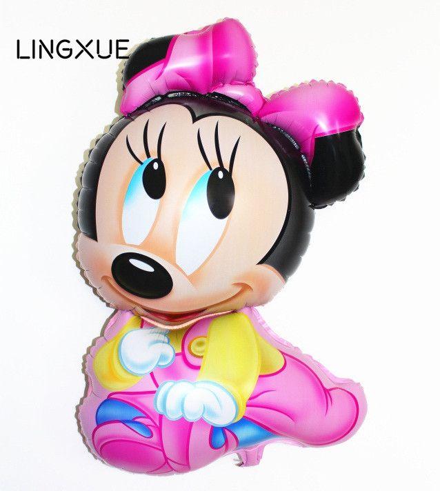 1 шт. Микки Минни Маус фольгированные Шары надувные Микки воздушный шар день рождения поставляет Украшения Детские игрушки свадебный воздушный шар