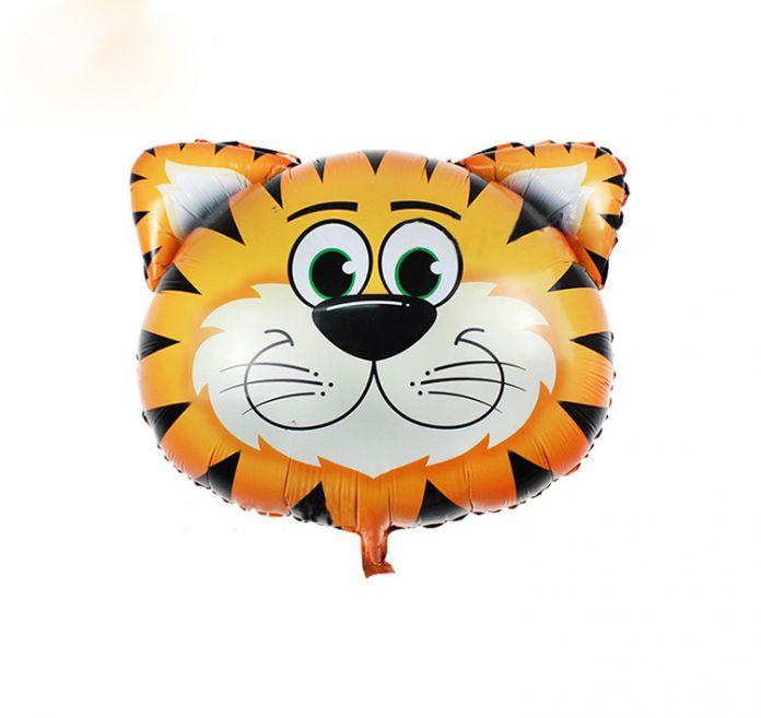 Повезло Большой Размер Животных Воздушный Шар Тигр и Лев и Обезьяна & Zebra & Deer & Корова Глава Гелия Фольги Воздушные Шары День Рождения Тему Стороной