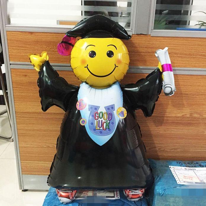 1 шт. Большой размер выпускной фольгированные шары улыбается доктор baloes для церемонии вручения дипломов поставки УДАЧИ баллон для babyLTM01