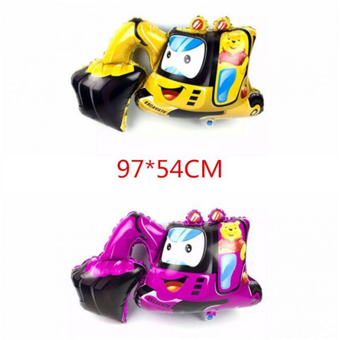 6 типа Танк шар мотоцикл автомобиль мультфильм воздушные шары Экскаваторы воздушный шар игрушка мальчика подарок на день рождения