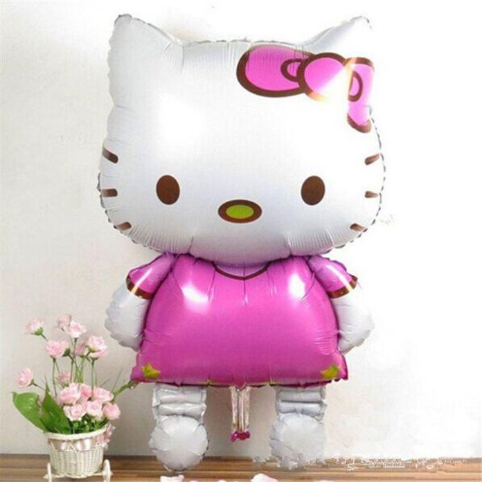 116 СМ Негабаритных Hello Kitty Фольга Большой KT Воздушные Шары С Днем Рождения Милый Кот Форме Воздушные Шары День Рождения Игрушки и Хобби. PY002