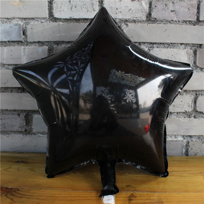18 дюймовый белый и черный звезда сердце воздушный шар Фольги Гелиевые Шары Свадьба День Рождения декорации для вечеринок Декор Шары Событие Партии воздушном шаре