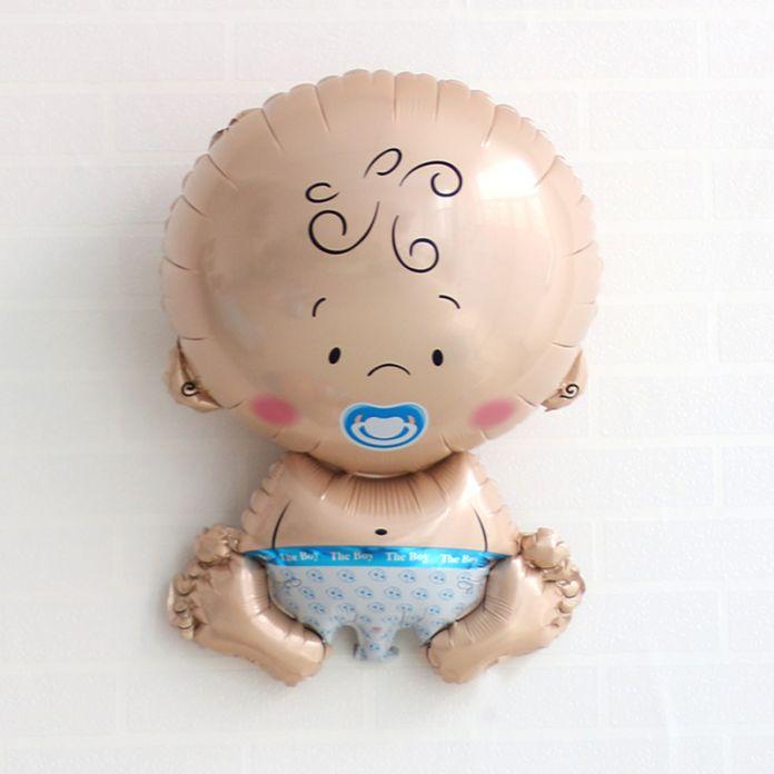 1 ШТ. Baby Shower Воздушные Шары 1-й День Рождения Украшения Из Фольги Воздушные Шары Девочка и Мальчик С Днем Рождения Гелиевые Шары