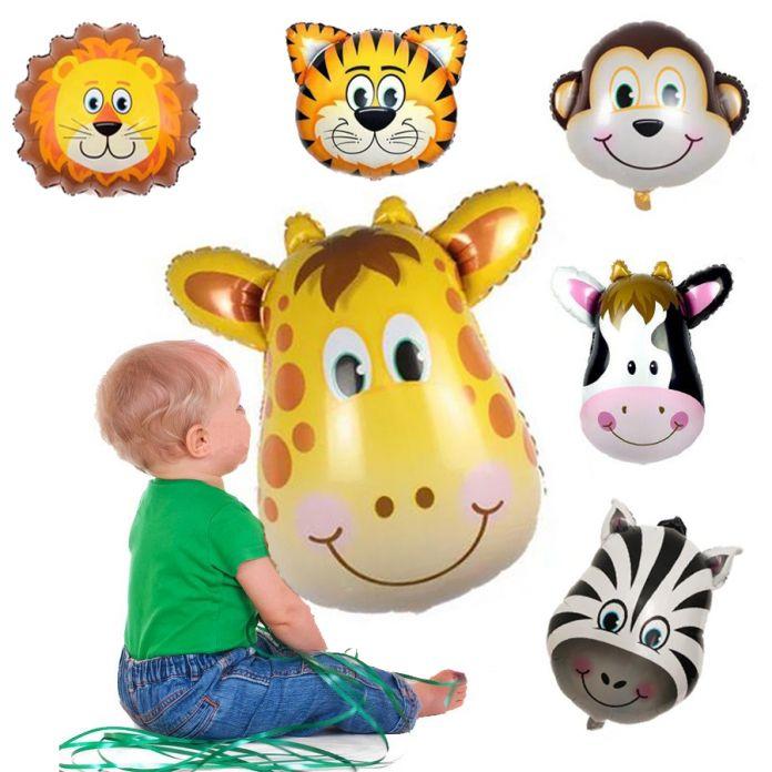 Новый Жираф Зебра Корова Обезьяна День Рождения Шар Животное Воздушный Шар Фольги для Детей Игрушки, Свадьба День Рождения Украшения