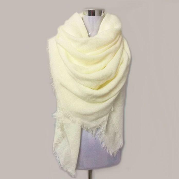 Za Solid Шарф Женщин bufandas mujer 2016 черный мода теплые женские шарфы зимой шарф, шаль wrap Одеяло Шарф Люксовый Бренд