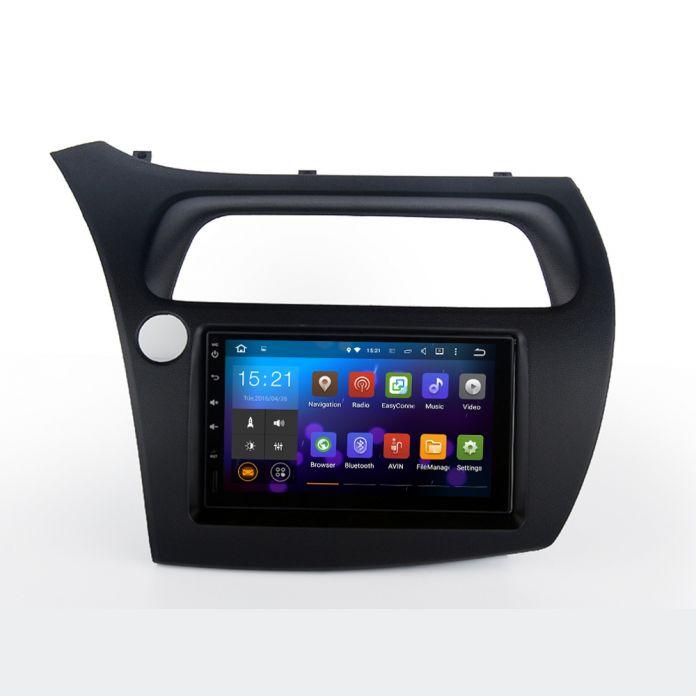 2 DIN Автомобильный GPS для Honda Civic Хэтчбек 2006-2011 с консоли размер 176 мм * 101 мм Емкостный экран Dual Core 1 Г БАРАНА Стерео NAVI