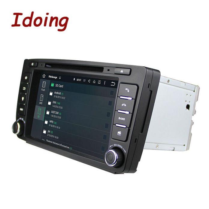 Idoing 2Din Для Skoda Octavia 2 Рулевого Колеса Android Автомобильный DVD Мультимедиа Видео Плеер GPS Навигатор с Сенсорным Экраном mp3 bluetooth