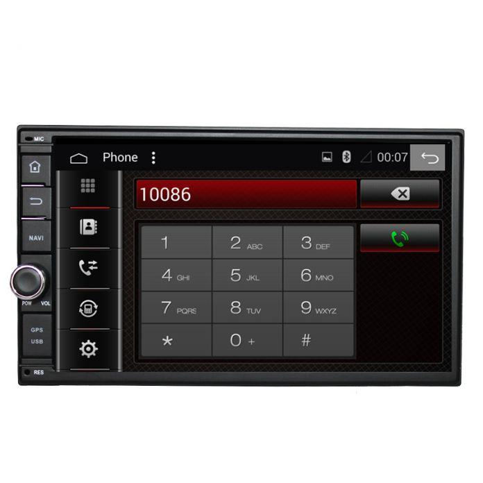 """7 """"2Din 1024*600 Android 6.0 Оперативная Память 2 Г Автомобилей Нажмите Tablet PC 2 din Универсальный Для Nissan Gps-навигации Радио Стерео Аудио Плеер (Без DVD)"""