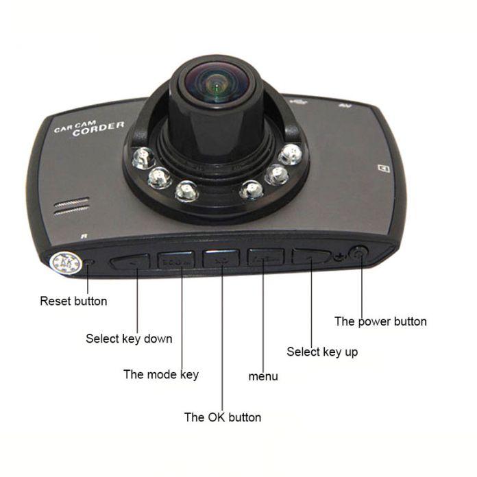"""2.7 """"Автомобиль Профессиональный Видеорегистратор Full HD 1080 P Камеры Автомобиля Рекордер G30 С Motion Ночной Обнаружение Видения G-датчик Автомобилей Видеорегистраторы"""